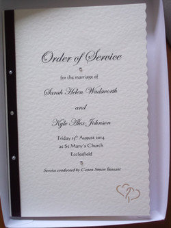 Entwined Order of Service