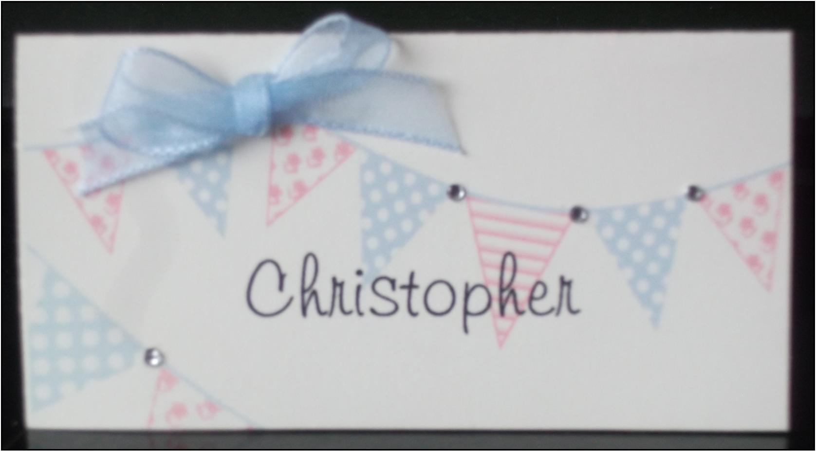 Bunting Name Card