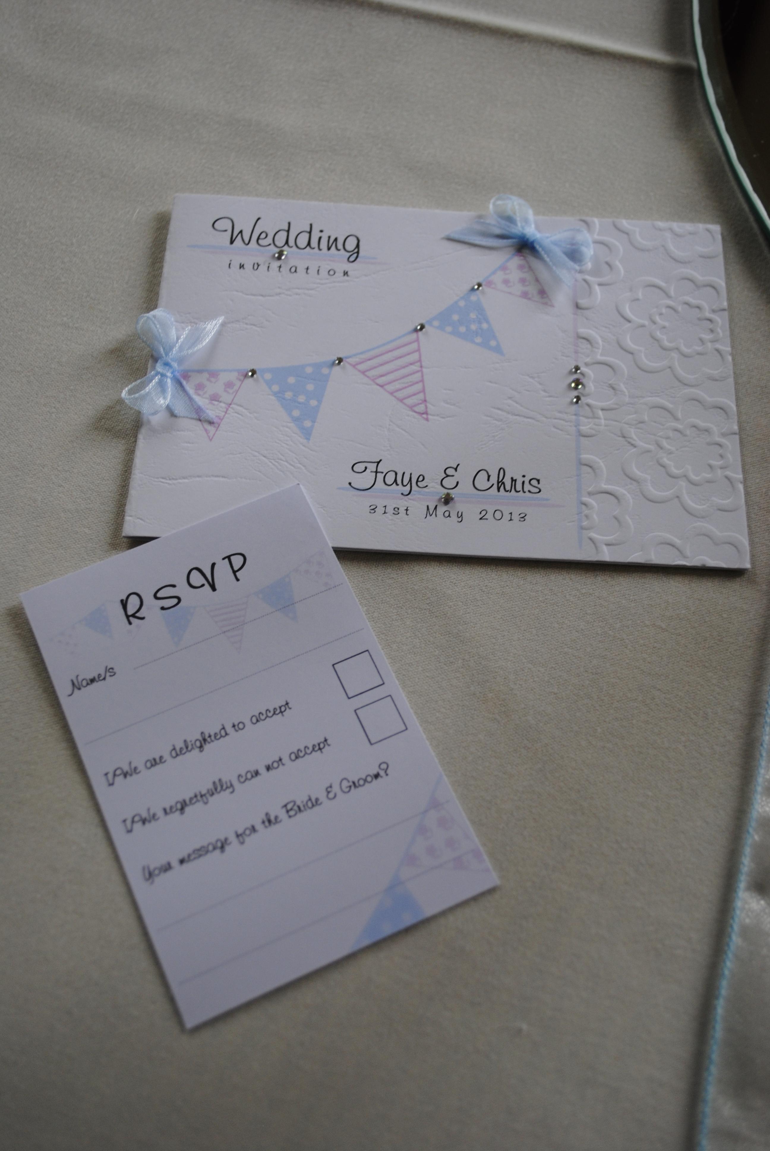 Bunting Standard Invitation & RSVP