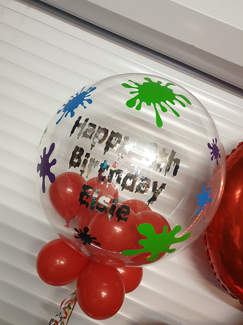 Slime Bubble Balloon filled with mini balloons