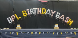 BPL BIRTHDAY BASH Silver, Gold, Rose Gold Letters