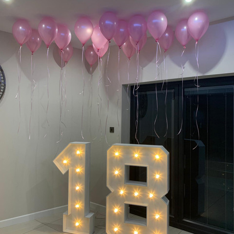 LED 18 With Ceiling Balloons