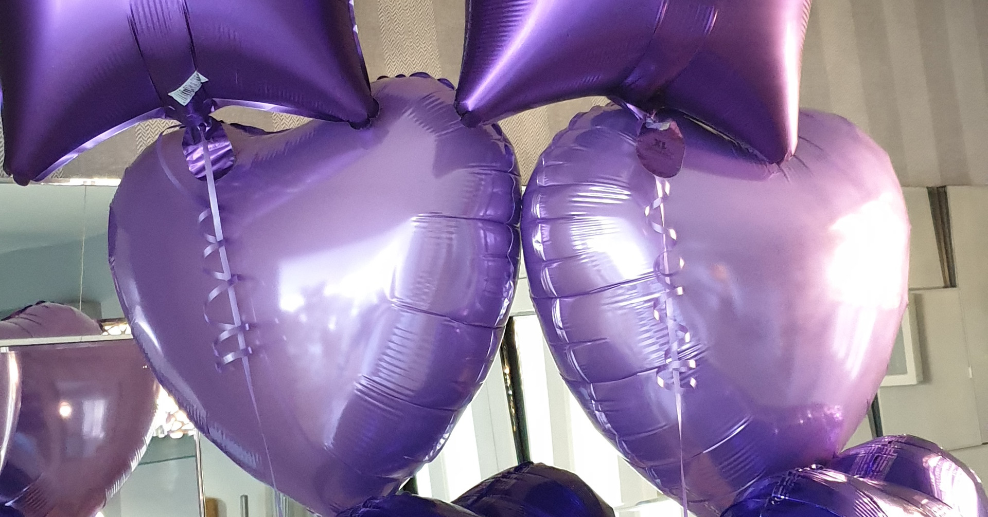 Mixed purples foil trio of balloons