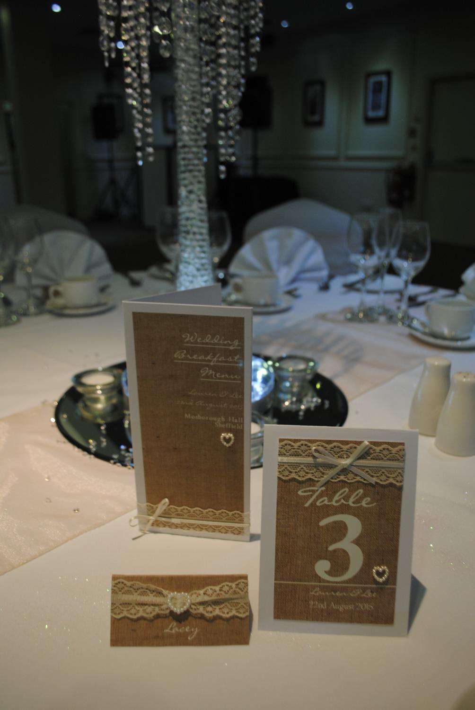 Burlap & Lace Table Settings