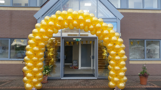 Open Day Gold Spiral Arch