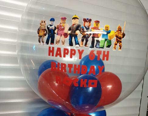 Lego birthday bubble