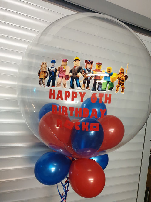 Roblox Bubble Balloon filled with mini balloons