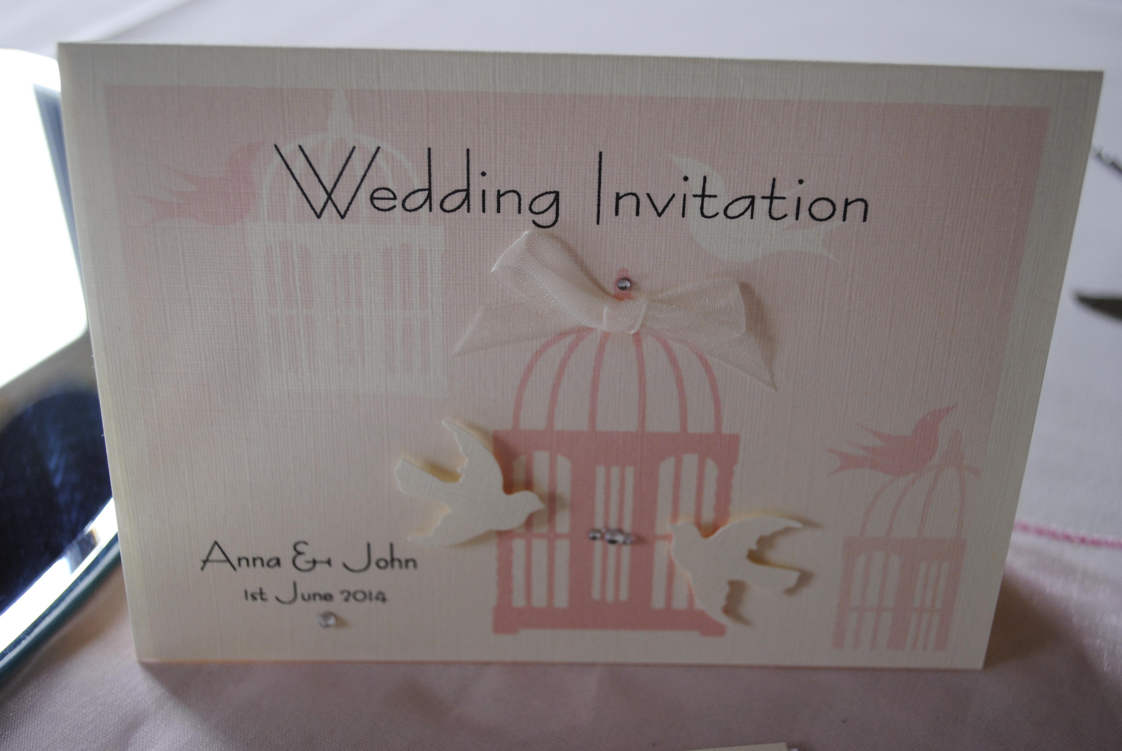 Birdcage Standard Invitation