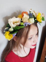 Fresh mixed flower crown