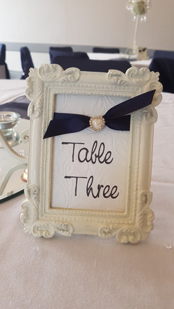 Tying The Knot Framed Table Number