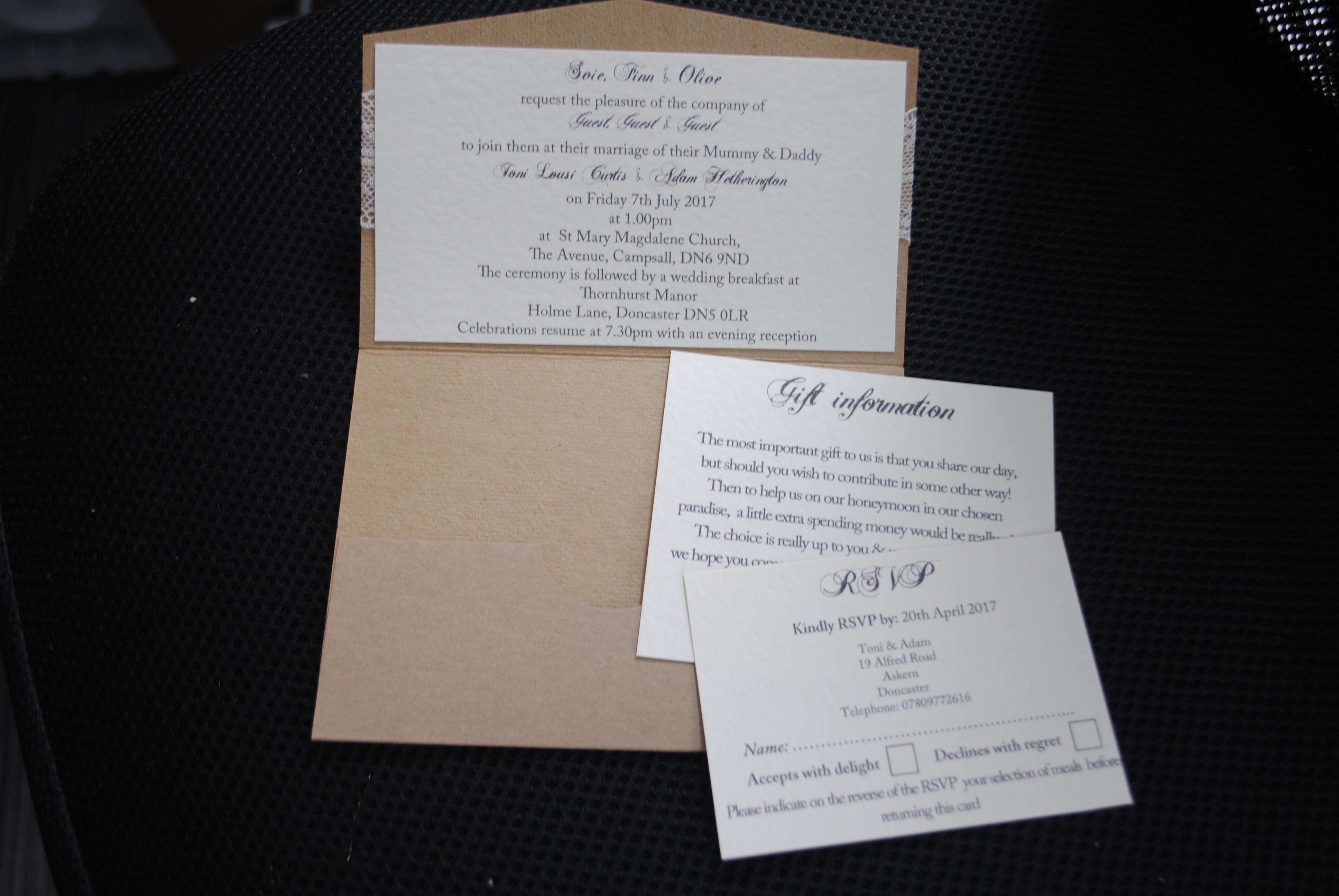 Rustic Pocket Fold Day Invite Inside