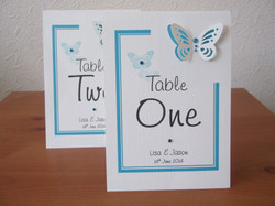Flutter Butterfly Table Numbers