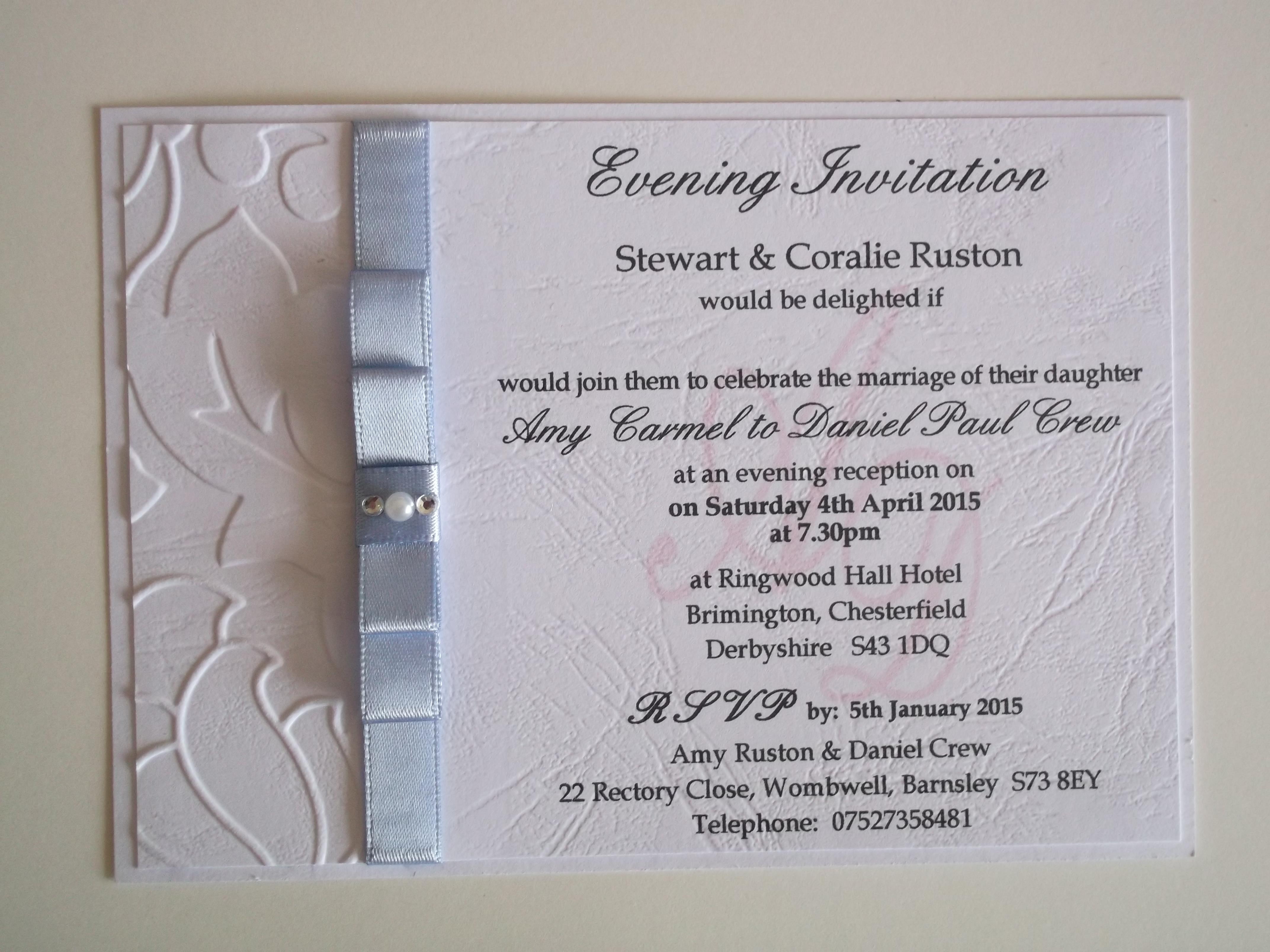Dior Bow Postcard Evening Invitation