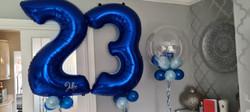 Royal Blue 23 With Light Blue Mini Balloon & Vinyl