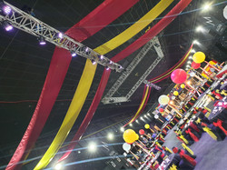 Coloured Ceiling Swags