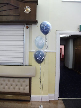 trio of balloons all double bubble