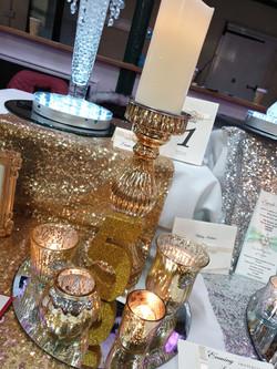 Gold mixed mercury glass