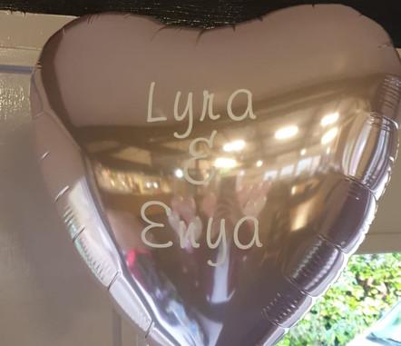 Light pink metallic heart foil balloon