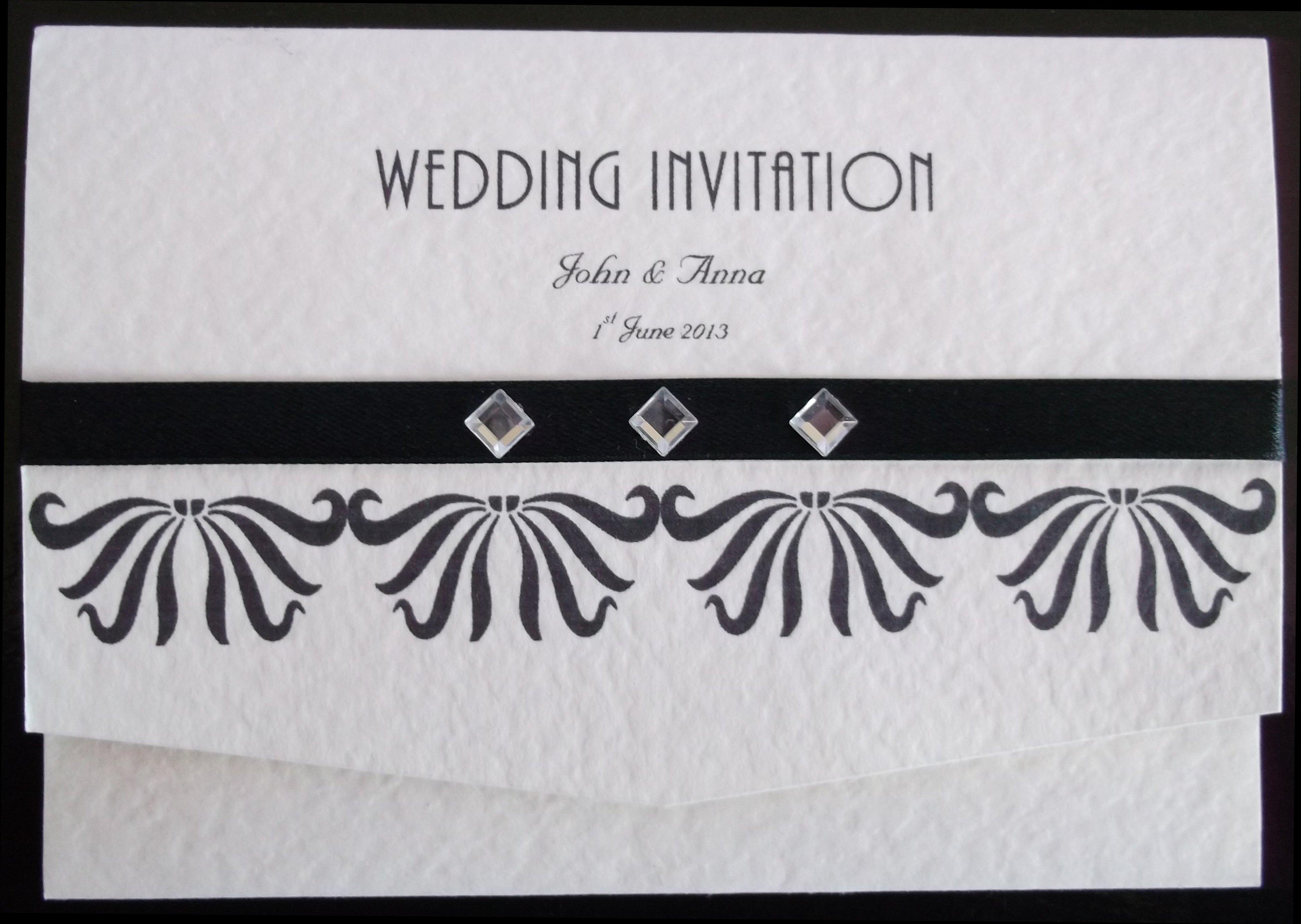 Art Deco Pocket Fold Invitation
