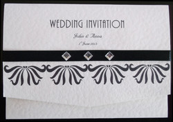 Art Deco Pocket Fold Invitation