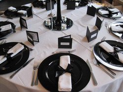 Black charger plate hire