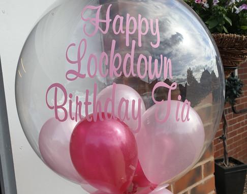 Lockdown birthday bubble balloon