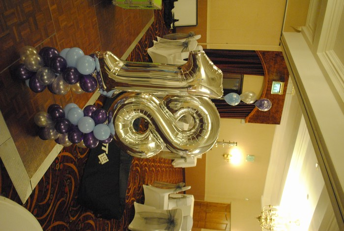 Silver Foil Number Balloon 18