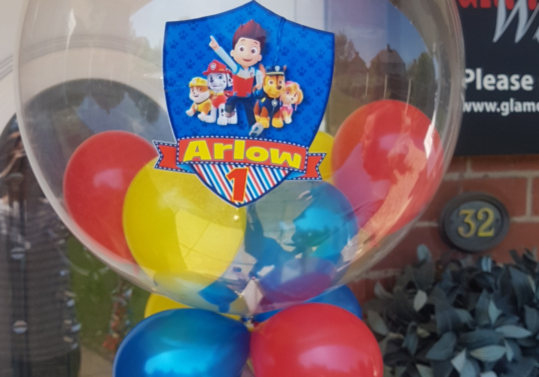 Paw patrol bubble balloon
