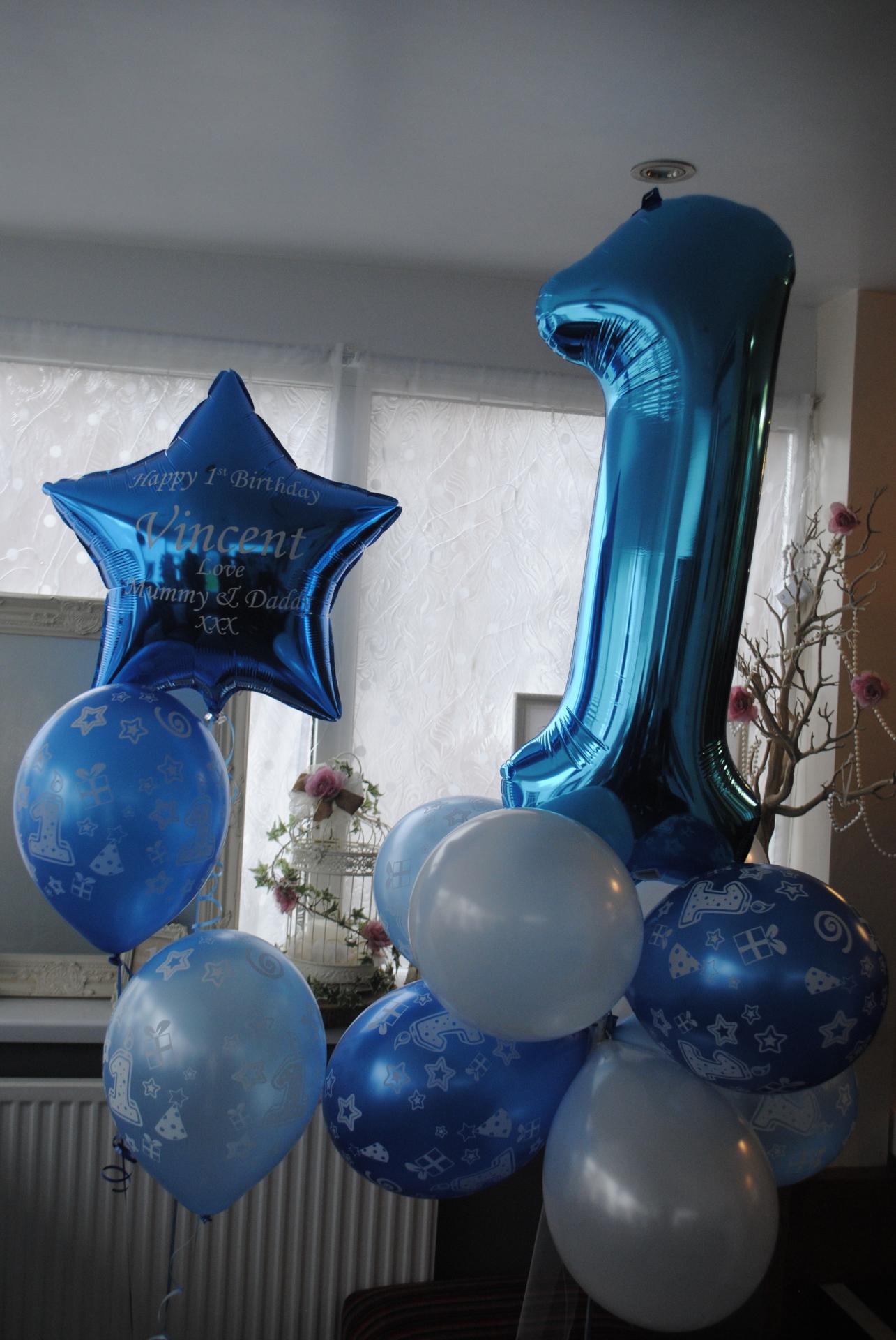 Blue Foil Number Balloon 1