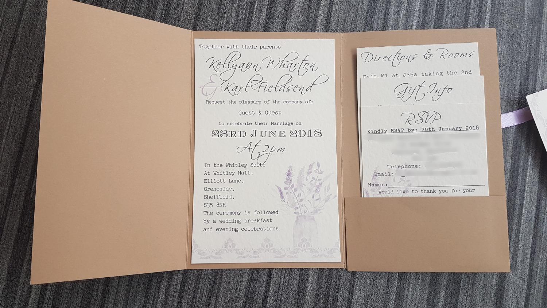 Mason Jar Rectangle Fold Invitation
