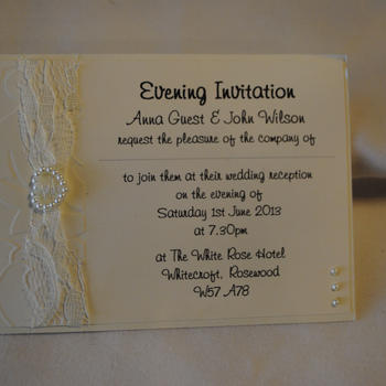 Lovely Lace Postcard Invitation