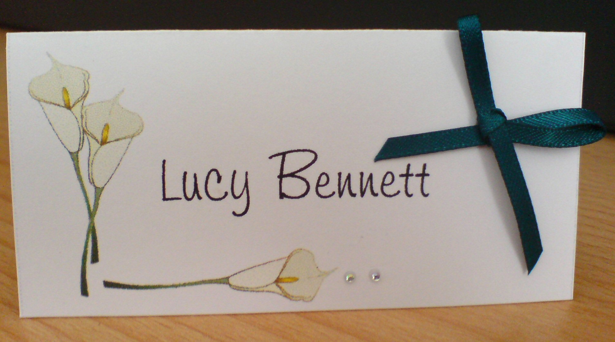 Calla Lily Name Card