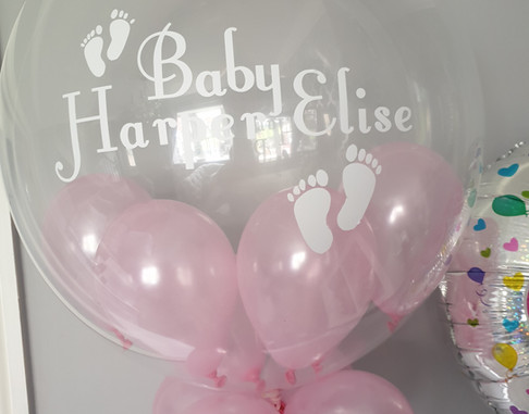 Baby girl pink bubble balloon balloon