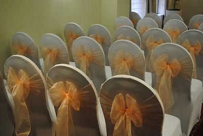 Chair cover & organza sash hire