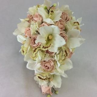Artificial Orchid & Rose Bouquet