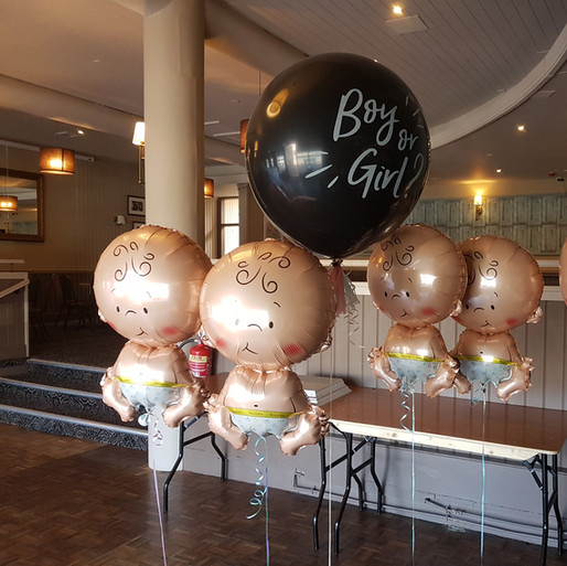 3ft Gender Reveal Balloon & Babies