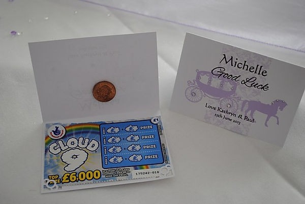 Lottery Holder Name Card