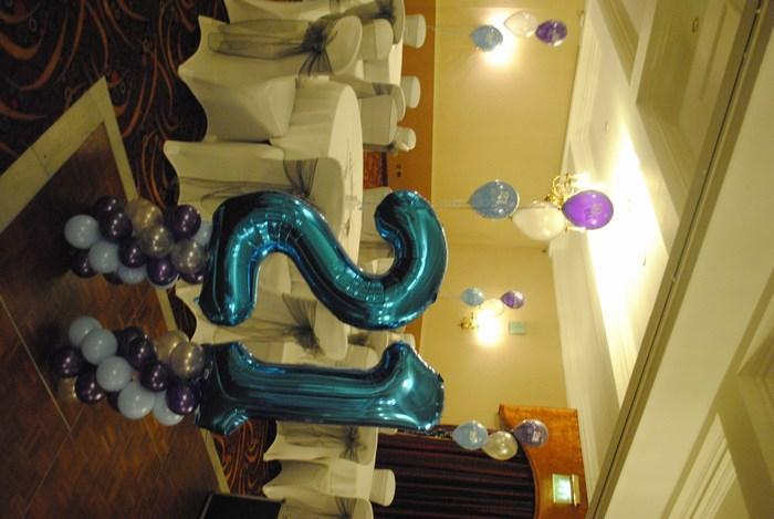 Blue Foil Number Balloon 21