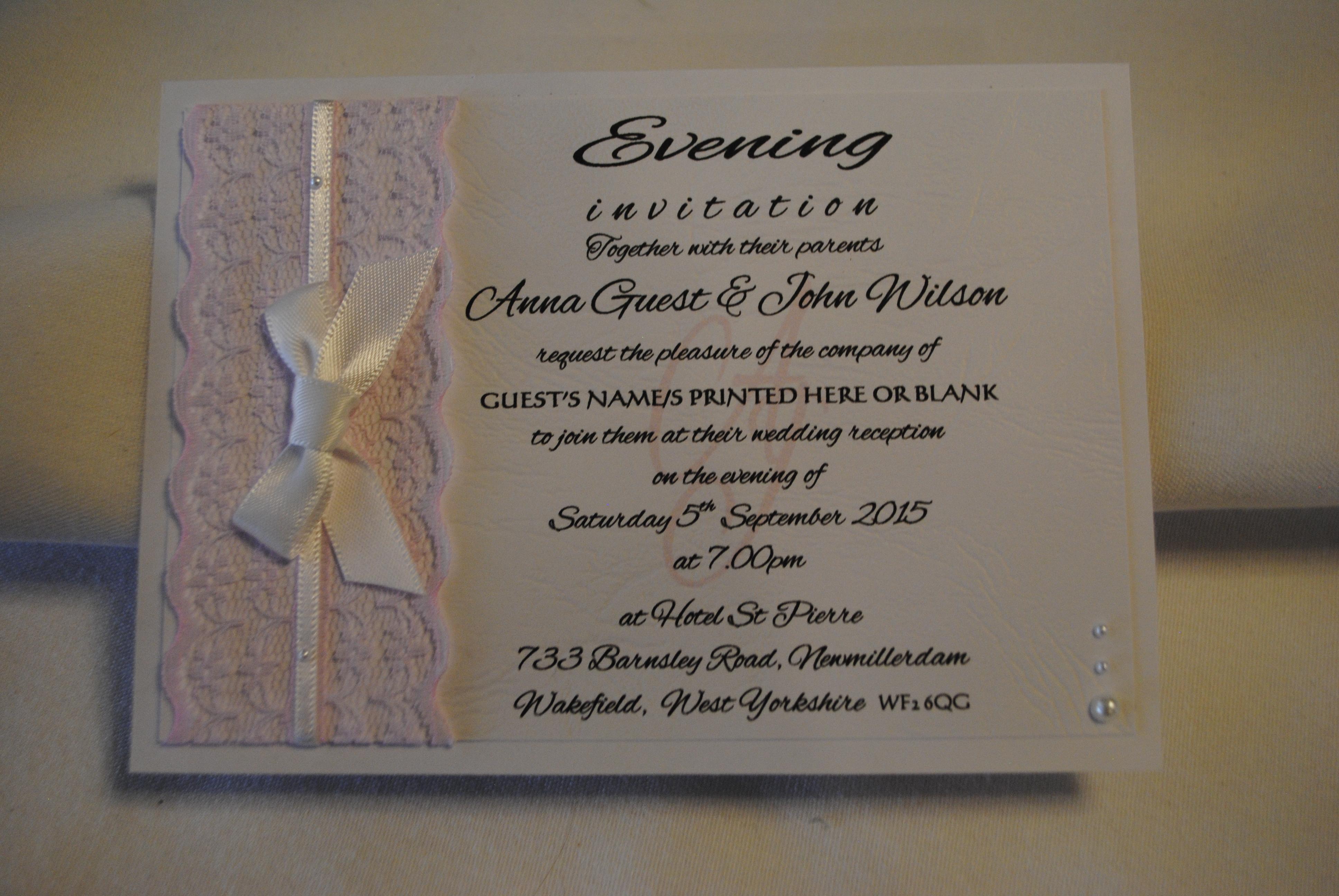 Chantilly Evening Invitation