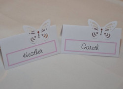 Flutter Butterfly Name Card