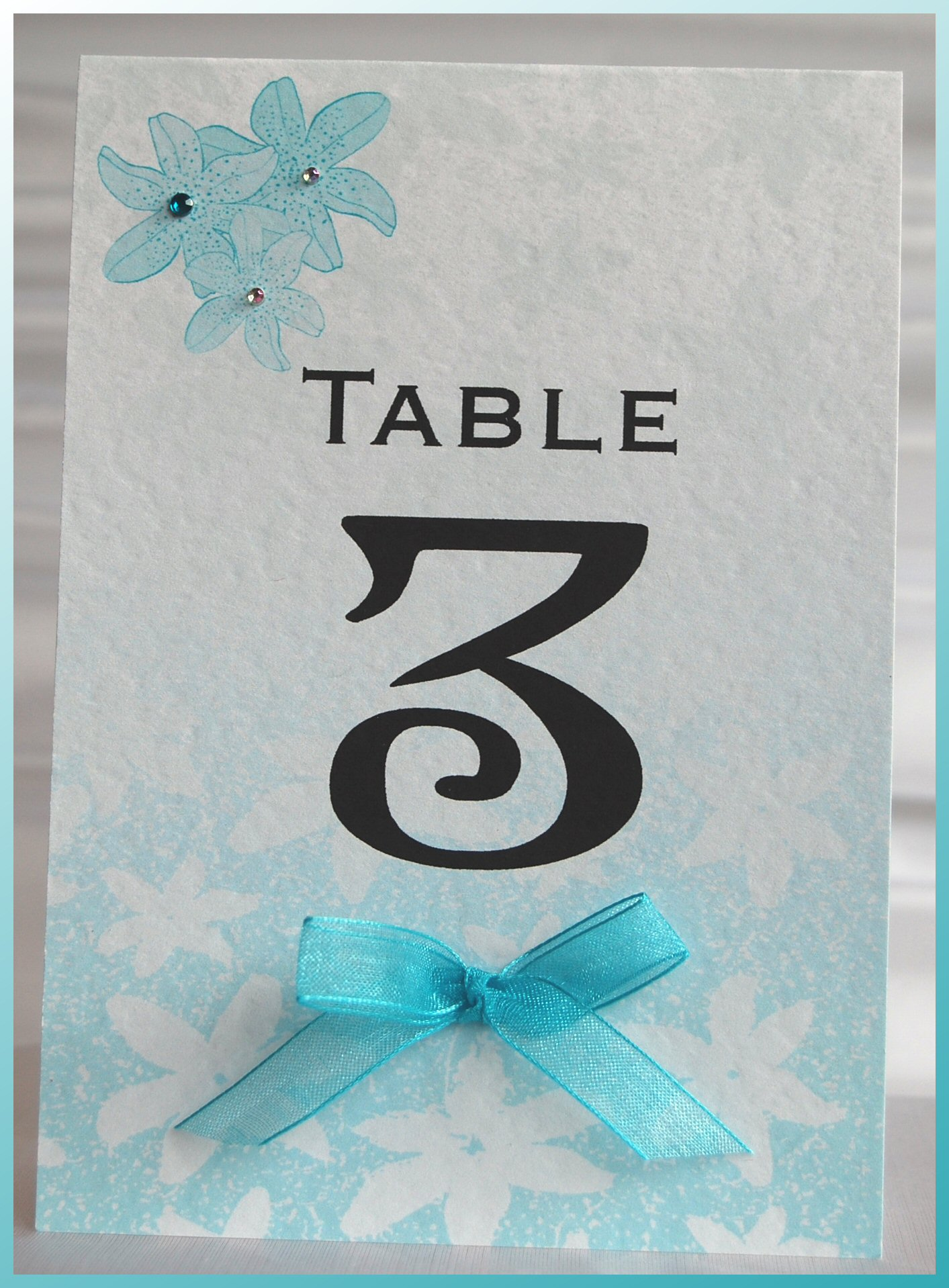 Tiger Lily Table Number