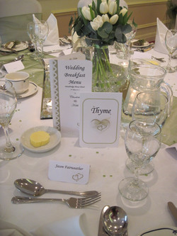 Entwined Table Number & Menu