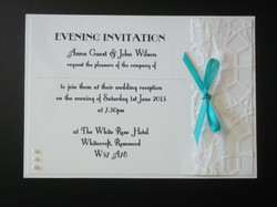 Lace Bow Double Mount Evening Invite