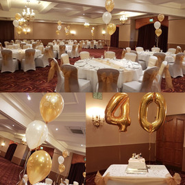 40th Balloon Decorations