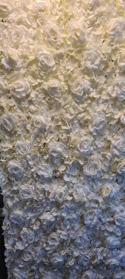 Ivory Flower Wall
