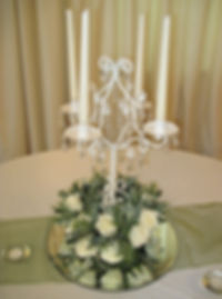 Tall Ivory Candelabra
