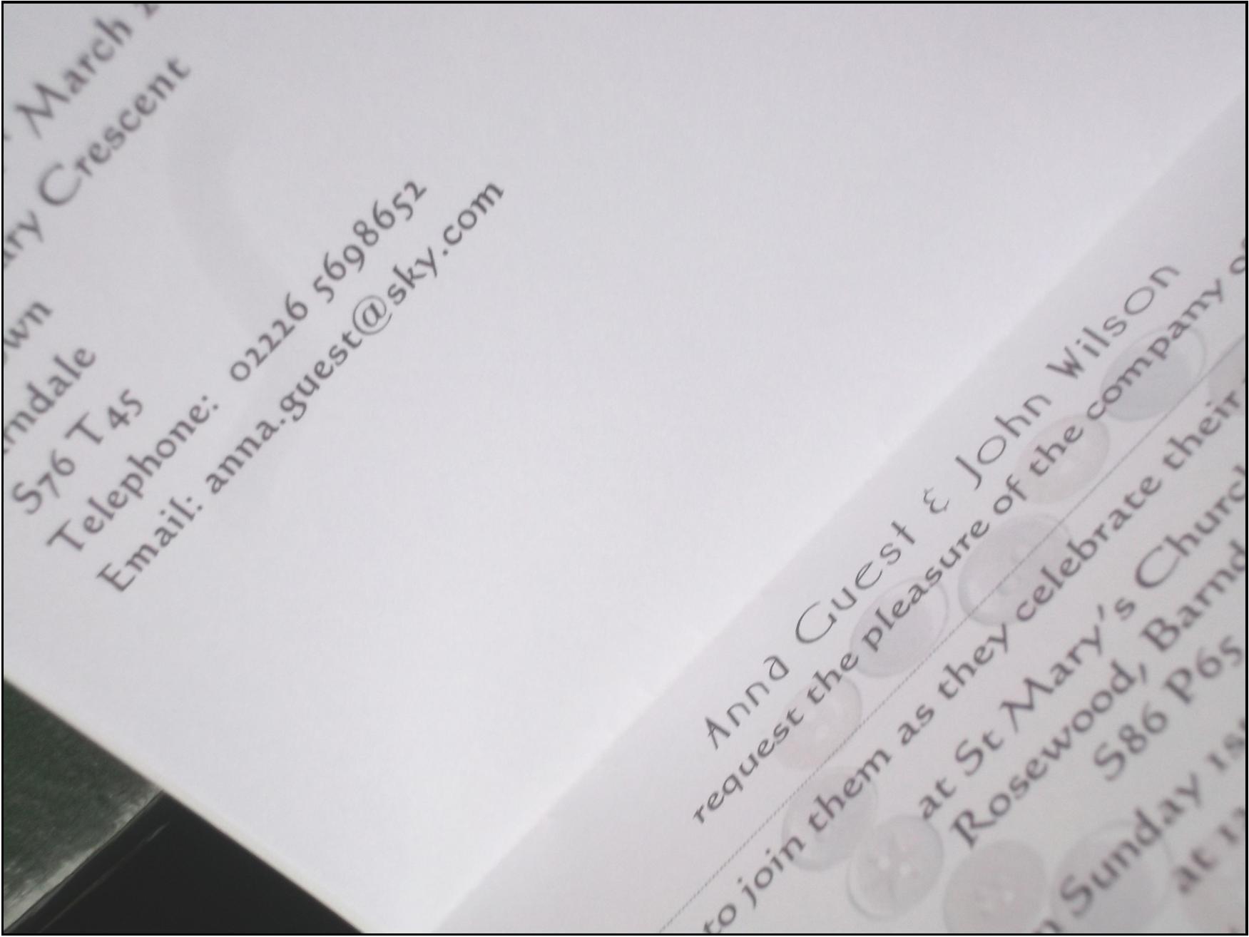 Beau Button Standard Invite Inside