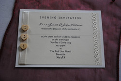 Wooden Button Postcard Invitation