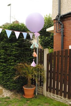 Big round lilac balloon