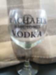 Gin Glass with Vinyl Message